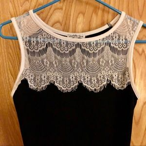 Little Black and White Lace Dress